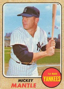 Mickey Mantle baseball card - 1968
