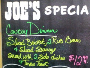 Daily Menu at Oklahoma Joe's