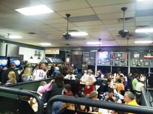 The waiting line at Oklahoma Joe's