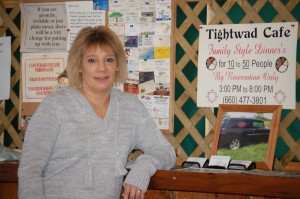 Carrie Fields, owner - Tightwad Cafe