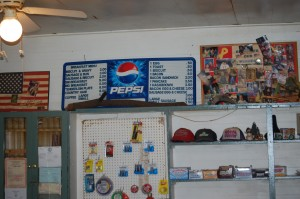 Hats and goodies for sale at Patche's
