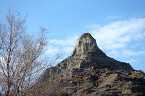 A peak in Makoshika State Park in Glendive, Montana