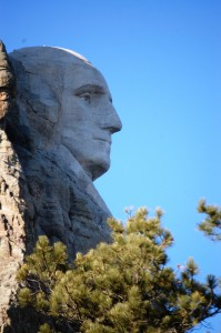 Profile shot of George Washington