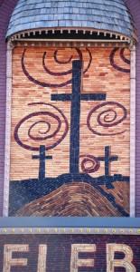 Mural depicting Easter