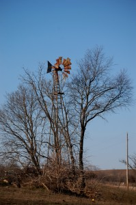 Old Windmill on road to Holliwell Covered bridge