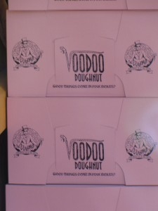 Voodoo Doughnut in the Pink Boxes