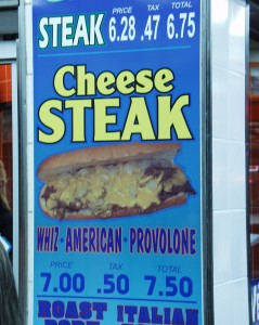 Steak Sign at Geno's