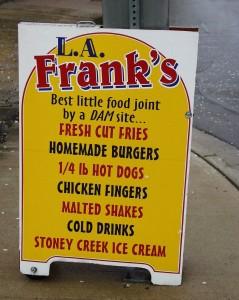L.A. Franks Menu