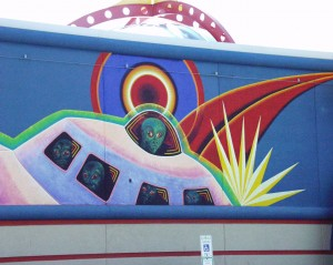 Wall Mural on Fargo Space Aliens Grill & Bar