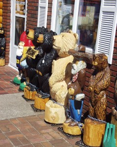 Carved bears greet you at the door