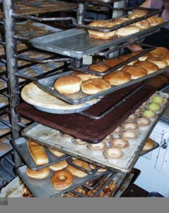 A Rack of Goodies at Paris Bakery