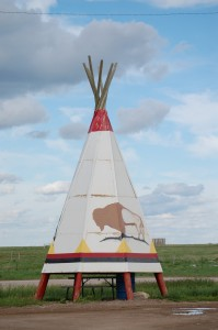 Teepee Picnic Area at Badland's Travel Stop
