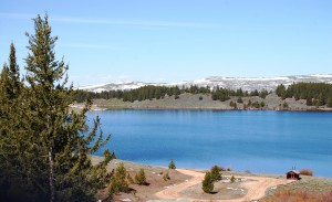 Meadowlark Lake in Bighorn National Forest on US 16