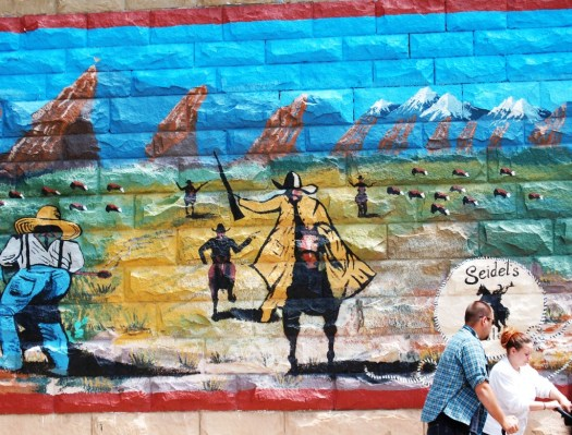 Large mural in Cody, Wyoming