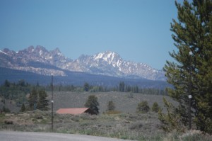 Sawtooth Range as seen from Vienna