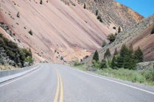 Slippery lava slopes on the Salmon River Scenic Byway
