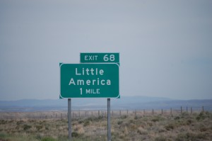 Approaching Little America, WY