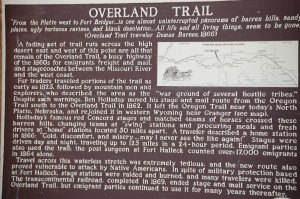 The Overland Trail historic Sign