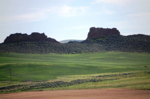 Fortification Rocks as seen from the north on CO 13.