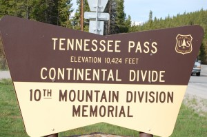 Tennessee Pass, Continental Divide and 10th Mountain Division Memorial