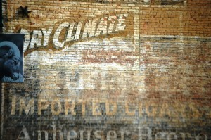 Old wall advertisement in Leadville, Colorado