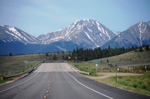 US 24 heading toward the Mosquito Mountain Range south of Leadville