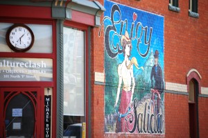 Enjoy Salida wall mural - beautifully colorful