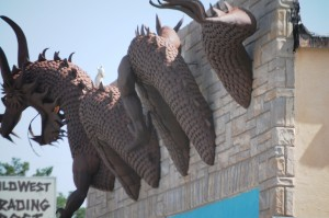 Dragon on a building in Clayton, NM
