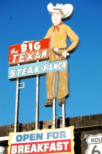 Iconic Big Texan Steak Ranch Sign
