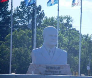 Eisenhower statue in Denison, TX - Burthplace of Dwight D. Eisenhower