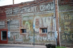 Old Wall Advertisement in Durant, Oklahoma