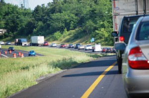 Stuck in traffic on I-24 east of Paducah - shades of Dallas....