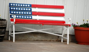 Flag Bench, Kadoka, SD