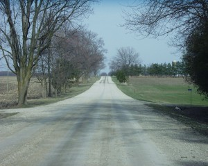 A typical road in Oxford County