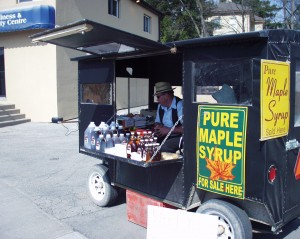 Mennonite Maple Syrup stand