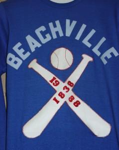 100 year anniversary jersey of Beachville baseball game