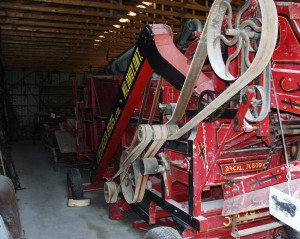 Old farm implement at Beachville Museum