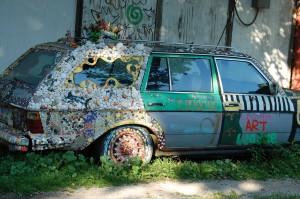 Art Car at Third Street Stuff - Lexington, Kentucky