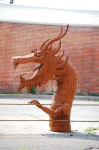 Metal Dragon Head - Salida, Colorado