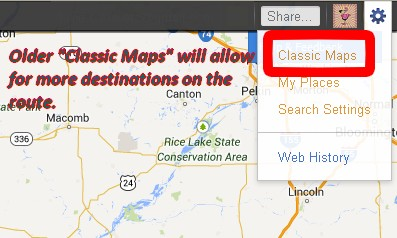 Switch to Classic Maps