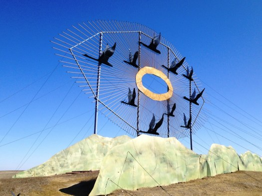 Geese in Flight - World's Largest Scrap Metal Sculpture - Enchanted Highway off of I-94 in North Dakota