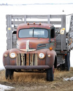 Old truck near Rexburg, Idaho