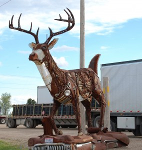 """Scrappy"" the Scrap Metal Buck by Brett Prang - Kadoka, South Dakota"