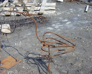 Scrap Metal Flamingo - Harrietsville, Ontario