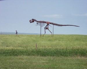 Skeleton Walking Dinosaur near Murdo, South Dakota