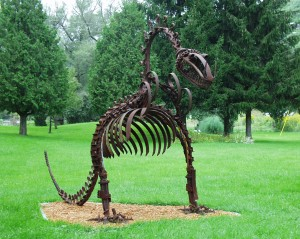 Hungry Dinosaur - Wally Keller collection near Mt. Horeb, Wisconsin