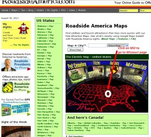 Roadside America Map Page