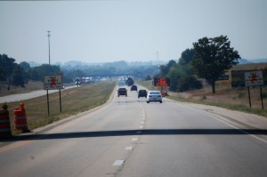 I-74 west of Normal, Illinois