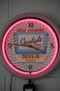 Starlight Drive-in Clock in Twistee Treat