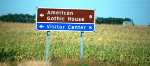 American Gothic House Sign